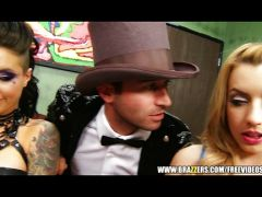 Rudel Bums mit Gothic Girls